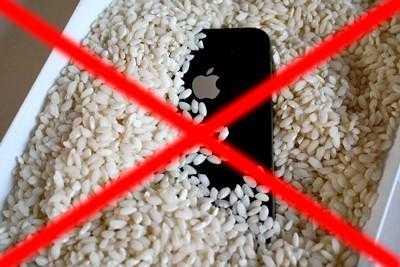 Не сушить iPhone в рисе